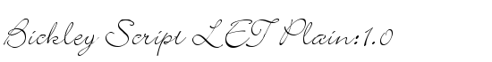 Bickley Script LET Plain:1.0 - Download Thousands of Free Fonts at FontZone.net