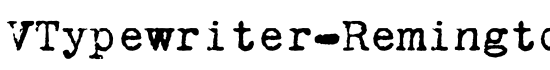 VTypewriter-RemingtonPortable - Download Thousands of Free Fonts at FontZone.net